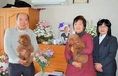 グローバルケアの葬儀をご利用いただいたお客様からの声:齋藤様ご夫妻